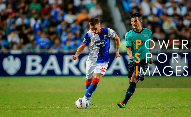 Ruben Rochina of Blackburn Rovers in action against Kitchee FC during the Asia Trophy pre-season friendly match at the Hong Kong Stadium on July 30, 2011 in So Kon Po, Hong Kong. Photo by Victor Fraile / The Power of Sport Images