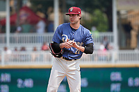 Frisco RoughRiders pitcher Joe Palumbo (21) during a Texas League game against the Midland RockHounds on May 22, 2019 at Dr Pepper Ballpark in Frisco, Texas.  (Mike Augustin/Four Seam Images)