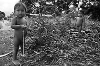 Wounaan kids playing. Jaque, Panama.