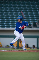 AZL Cubs 1 designated hitter Chris Coghlan (8) at bat in a rehab assignment during an Arizona League game against the AZL Cubs 1 at Sloan Park on June 28, 2018 in Mesa, Arizona. The AZL Athletics defeated the AZL Cubs 1 5-4. (Zachary Lucy/Four Seam Images)