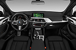 Stock photo of straight dashboard view of 2018 BMW X3 M-Sport 5 Door SUV Dashboard