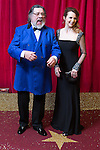 © Licensed to London News Pictures . 16/05/2015 .  The Palace Hotel , Manchester , UK . Ricky Tomlinson and Debra Stephenson . The red carpet at the 2015 British Soap Awards , The Palace Hotel , Oxford Road , Manchester . Photo credit : Joel Goodman/LNP