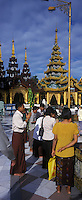 Asie/Birmanie/Myanmar/Yangon: Pagode Paya Shwedagon