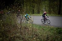 Tanel Kangert (EST/EF Education First) attacking up the Côte du Rosier<br /> <br /> 105th Liège-Bastogne-Liège 2019 (1.UWT)<br /> One day race from Liège to Liège (256km)<br /> <br /> ©kramon