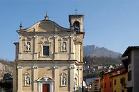 - the church of Marone Village, on Iseo lake....- la chiesa del paese di Marone, sul lago d'Iseo
