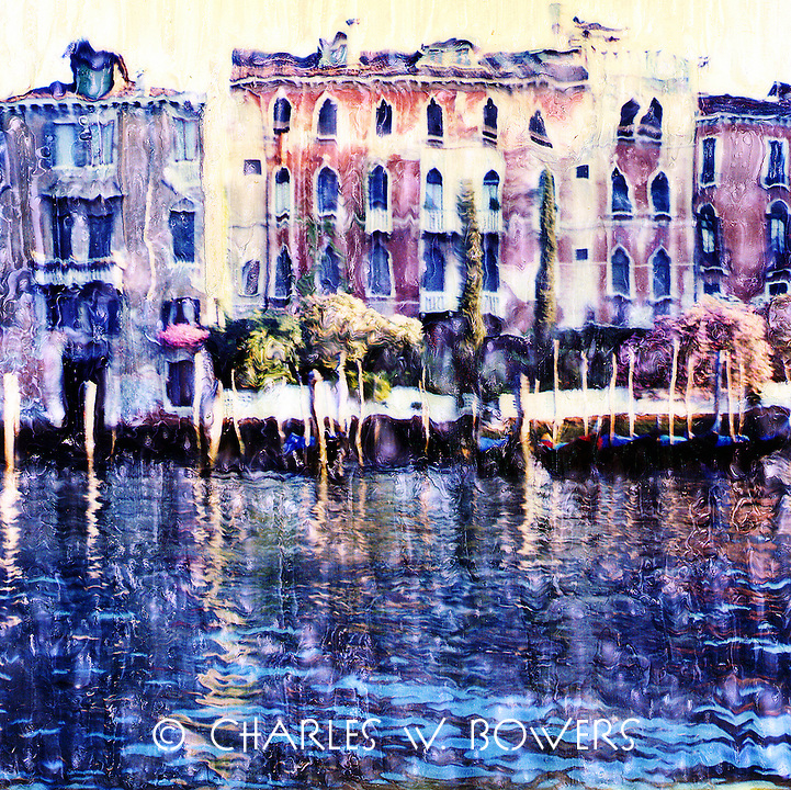 The Grand Canal offers the passerby one stunning view after another. Trees, plants and flowers often provide embellishment to the ancient building.<br /> <br /> -Limited Edition of 50 Prints