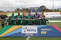 BOGOTÁ- COLOMBIA, 12-03-2021:Jugadores de  La Equidad   posan para una foto previo al partido por la fecha 12 entre La Equidad y Envigado  como parte de la Liga BetPlay DIMAYOR 2021 jugado en el estadio Metropolitano de Techo de la ciudad de Bogotá / Players of La Equidad  pose to a photo prior Match for the date 12  between La Equidad and Envigado  as part of the BetPlay DIMAYOR League I 2021 played at Metropolitano de Techo  stadium in Bogota city. Photo: VizzorImage / Felipe Caicedo / Staff