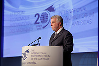 Philippe Couillard,<br /> Premier of the Province of Quebec <br /> attend the International Economic Forum of the Americas 20th Edition, from June 9-12, 2014 <br /> <br />  Photo : Agence Quebec Presse - Pierre Roussel