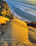 Sandstone Cliffs, Torrey Pines State Beach and State Reserve, La Jolla, San Diego County, California