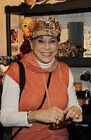 12-24-10 Louise Sorel - Grand Central Holiday Fair - Jane Elissa Hats