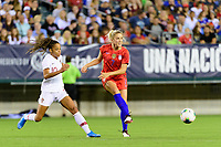 PHILADELPHIA, PA - AUGUST 29: Abby Dahlkemper #7 of the United States passes the ball during a game between Portugal and USWNT at Lincoln Financial Field on August 29, 2019 in Philadelphia, PA.