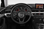 Car pictures of steering wheel view of a 2018 Audi A4 Avant Sport 5 Door Wagon