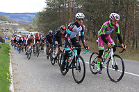 2021 Cycling Tour of the Alps Stage 1 Bressanone, Innsbruck, Italy, Austria Apr 19th; The peloton on the way for Brennero at the Brenner Pass