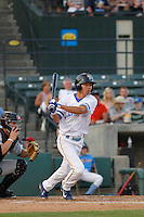 Myrtle Beach Pelicans outfielder Pin-Chieh Chen (20) at bat during game two of a doubleheader against the Carolina Mudcats at Ticketreturn.com Field at Pelicans Ballpark on June 6, 2015 in Myrtle Beach, South Carolina. During the game the Pelicans wore special Myrtle Beach Hurricanes throwback jerseys. The Myrtle Beach Hurricanes were a minor league team affiliated with the Toronto Blue Jays who played on the Grand Strand during the early 1990's. Carolina defeated Myrtle Beach 4-2. (Robert Gurganus/Four Seam Images)