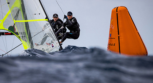 Robert Dickson and Sean Waddilove of Howth in action on day on the Lanzarote International Regatta