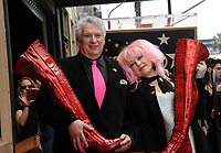 Cyndi Lauper And Harvey Fierstein Honored With Double Star Ceremony