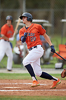 Coby Mayo (20) during the WWBA World Championship at the Roger Dean Complex on October 12, 2019 in Jupiter, Florida.  Coby Mayo attends Marjory Stoneman Douglas High School in Coral Springs, FL and is committed to Florida.  (Mike Janes/Four Seam Images)