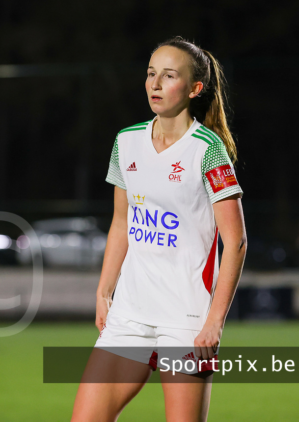 Sari Kees (2 OHL) pictured during a female soccer game between Oud Heverlee Leuven and Standard Femina De Liege on the 10th matchday of the 2020 - 2021 season of Belgian Womens Super League , sunday 20 th of December 2020  in Heverlee , Belgium . PHOTO SPORTPIX.BE | SPP | SEVIL OKTEM