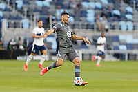 SAINT PAUL, MN - MAY 12: Michael Boxall #15 of Minnesota United FC with the ball during a game between Vancouver Whitecaps and Minnesota United FC at Allianz Field on May 12, 2021 in Saint Paul, Minnesota.