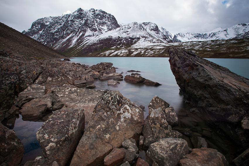 Eagle Lake in the Chugach Mountains above Eagle River, Alaska.