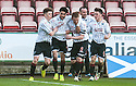 Pars' Faissal El Bakhtaoui (17) celebrates after he scores their winning goal.