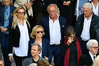 Didier BARBELIVIEN - Marie-Anne CHAZEL - ObsËques de MIREILLE DARC en l'Èglise Saint-Sulpice - 01/09/2017 - Paris, France