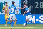 20.02.2021, xtgx, Fussball 3. Liga, FC Hansa Rostock - SV Waldhof Mannheim, v.l. Lion Lauberbach (Rostock) am Ball<br /> <br /> (DFL/DFB REGULATIONS PROHIBIT ANY USE OF PHOTOGRAPHS as IMAGE SEQUENCES and/or QUASI-VIDEO)<br /> <br /> Foto © PIX-Sportfotos *** Foto ist honorarpflichtig! *** Auf Anfrage in hoeherer Qualitaet/Aufloesung. Belegexemplar erbeten. Veroeffentlichung ausschliesslich fuer journalistisch-publizistische Zwecke. For editorial use only.