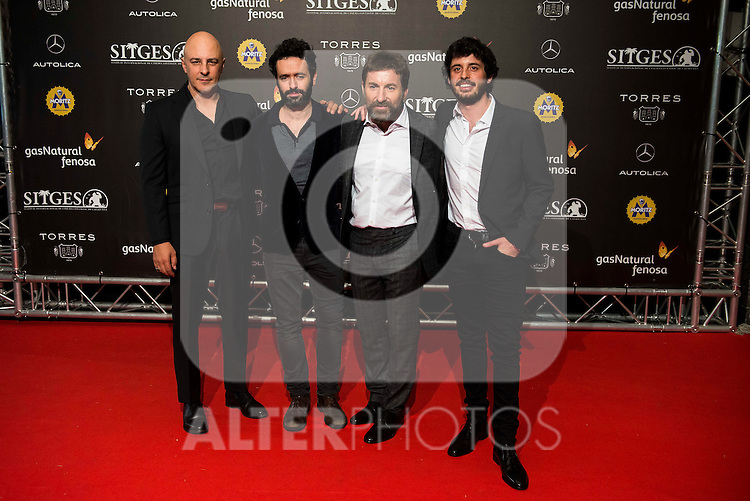 "Roberto Alamo, the director of the film Rodrigo Sorogoyen, Antonio de la Torre and Javier Pereira during the red carpet of the presentation of the film ""Que Dios Nos Perdone"" at Festival de Cine Fantastico de Sitges in Barcelona. October 14, Spain. 2016. (ALTERPHOTOS/BorjaB.Hojas)"