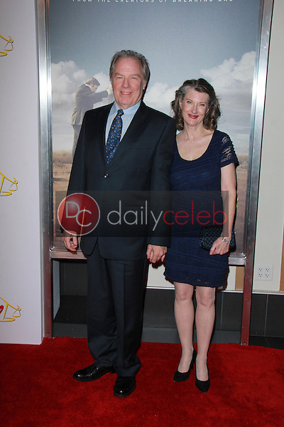 """Michael McKean, Annette O'Toole<br /> at the """"Better Call Saul"""" Series Premiere Screening, Regal Cinemas, Los Angeles, CA 01-29-15<br /> David Edwards/DailyCeleb.com 818-249-4998"""