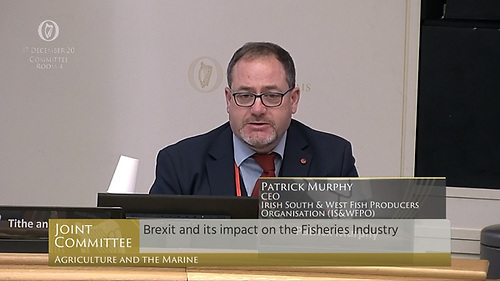 Patrick Murphy of the Irish South and West Fish Producers' Organisation