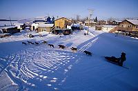 Vern Halter on Road Leaves Galena Checkpoint Alaska