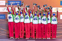 Bronze Medal<br /> HUNGARY<br /> BARTANike'/CSILLINGKatalin<br /> FARKASLinda/GACSBoglarka<br /> GOTZLilien/HATALAHanna<br /> HUNGLERSzabina/REGENYIAdelin<br /> RENYILuca/SZABOAnna Viktoria<br /> Highlights Final<br /> Artistic Swimming<br /> Budapest  - Hungary  15/5/2021<br /> Duna Arena<br /> XXXV LEN European Aquatic Championships<br /> Photo Pasquale Mesiano / Deepbluemedia / Insidefoto