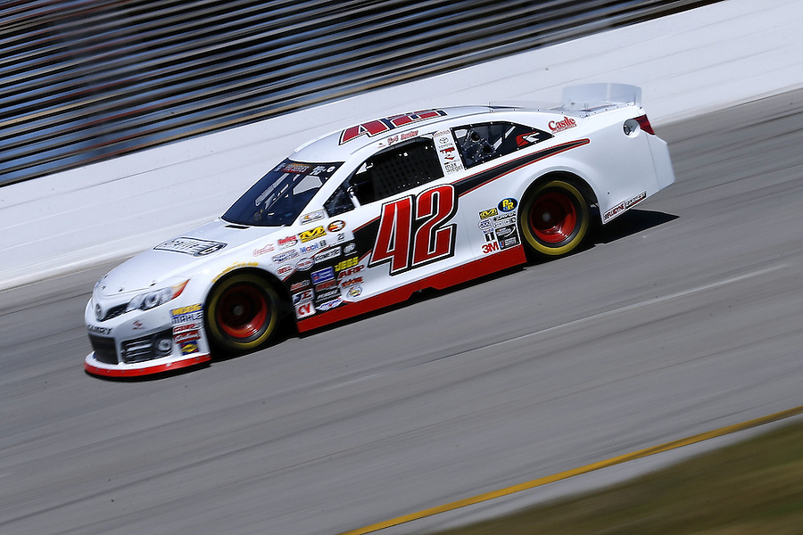 MOBILE, AL - MARCH 13: Jairo Avila Jr., driver of the #42 Rev Racing Toyota, races during parctice for the NASCAR K&N Pro Series East Mobile 150 on March 13, 2016 in Mobile, Alabama.  (Photo by Jonathan Bachman/NASCAR via Getty Images)