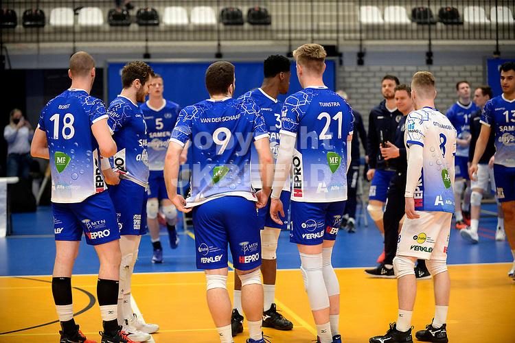 24-04-2021: Volleybal: Amysoft Lycurgus v Draisma Dynamo: Groningen teleurstelling na afloop bij Lycurgus