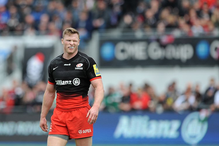 Chris Ashton of Saracens wins Man of the Match during the Aviva Premiership semi final match between Saracens and Leicester Tigers at Allianz Park on Saturday 21st May 2016 (Photo: Rob Munro/Stewart Communications)
