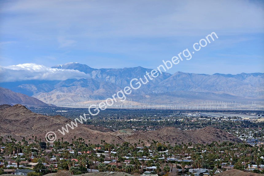 View from Mirada Estats over Palm Springs and the Coachella Valley