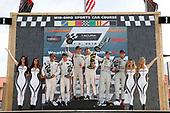 #6 Acura Team Penske Acura DPi, P: Dane Cameron, Juan Pablo Montoya, #7 Acura Team Penske Acura DPi, P: Helio Castroneves, Ricky Taylor, #77 Mazda Team Joest Mazda DPi, P: Oliver Jarvis, Tristan Nunez, podium