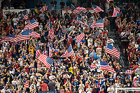 KANSAS CITY, KS - JUNE 26: US Fans celebrate a goal during a game between Panama and USMNT at Children's Mercy Park on June 26, 2019 in Kansas City, Kansas.