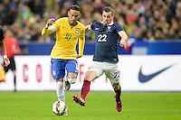 Neymar jr (Brasile) vs Morgan SCHNEIDERLIN (Fra) <br /> Parigi 26-03-2015 Stade De France Calcio Football 2014/2015 Amichevole Francia Brasile <br /> Foto Panoramic / Insidefoto