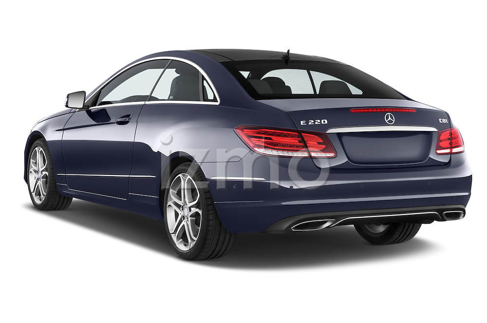 Car pictures of rear three quarter view of2013 Mercedes Benz E Class 220 2 Door Coupe Angular Rear