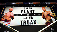 LOS ANGELES - JANUARY 30: Caleb Plant and Caleb Truax fight on Fox Sports PBC fight night at the Shrine Auditorium and Expo Hall in Los Angeles, California on January 30, 2021. (Photo by Frank Micelotta/Fox Sports)