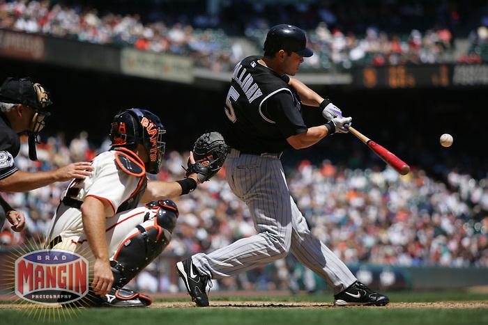 Matt Holliday. Baseball: Colorado Rockies vs San Francisco Giants. San Francisco, CA 8/4/2005 MANDATORY CREDIT: Brad Mangin