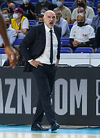 13th October 2021; Wizink Center; Madrid, Spain; Turkish Airlines Euroleague Basketball; game 3; Real Madrid versus AS Monaco; Pablo Laso coach for Real Madrid Baloncesto during the game