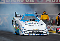 Feb 9, 2020; Pomona, CA, USA; NHRA funny car driver John Force during the Winternationals at Auto Club Raceway at Pomona. Mandatory Credit: Mark J. Rebilas-USA TODAY Sports