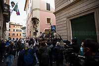 Rome, 06/02/2021. Today, the designated Italian Prime Minister - and former President of the European Central Bank -, Mario Draghi, held his third day of consultations at Palazzo Montecitorio, meeting delegations of the Italian political parties in his attempt to form the new Italian Government.