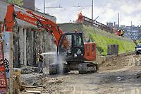 - Milano, cantiere per la costruzione della nuova stazione Tibaldi-Bocconi sulla linea ferroviaria urbana circolare<br /> <br /> - Milan, construction site for the new Tibaldi-Bocconi station on the urban circle railway line
