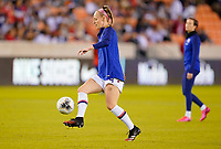 HOUSTON, TX - FEBRUARY 03: Becky Sauerbrunn #4 of the United States warming up during a game between Costa Rica and USWNT at BBVA Stadium on February 03, 2020 in Houston, Texas.