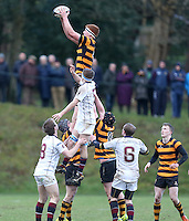 RBAI vs R S ARMAGH | Saturday 21st February 2015<br /> <br /> Garret Bell during 2015 Ulster Schools Cup Quarter-Final between RBAI and Royal School Armagh at Osborne Park, Belfast, Northern Ireland.<br /> <br /> Picture credit: John Dickson / DICKSONDIGITAL