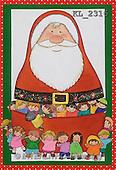 Interlitho, Soledad, CHRISTMAS CHILDREN, naive, paintings, santa, kids(KL2316,#XK#) Weihnachten, Navidad, illustrations, pinturas