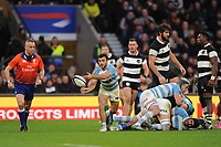 Martin Landajo of Argentina passes during the Killik Cup match between the Barbarians and Argentina at Twickenham Stadium on Saturday 1st December 2018 (Photo by Rob Munro/Stewart Communications)